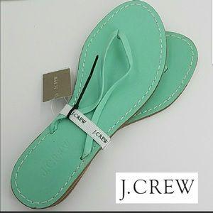J.Crew green sandal
